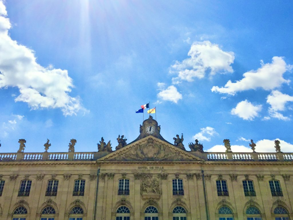 Lorraine, French and European flags in Nancy, France © Olivier Simard-Casanova